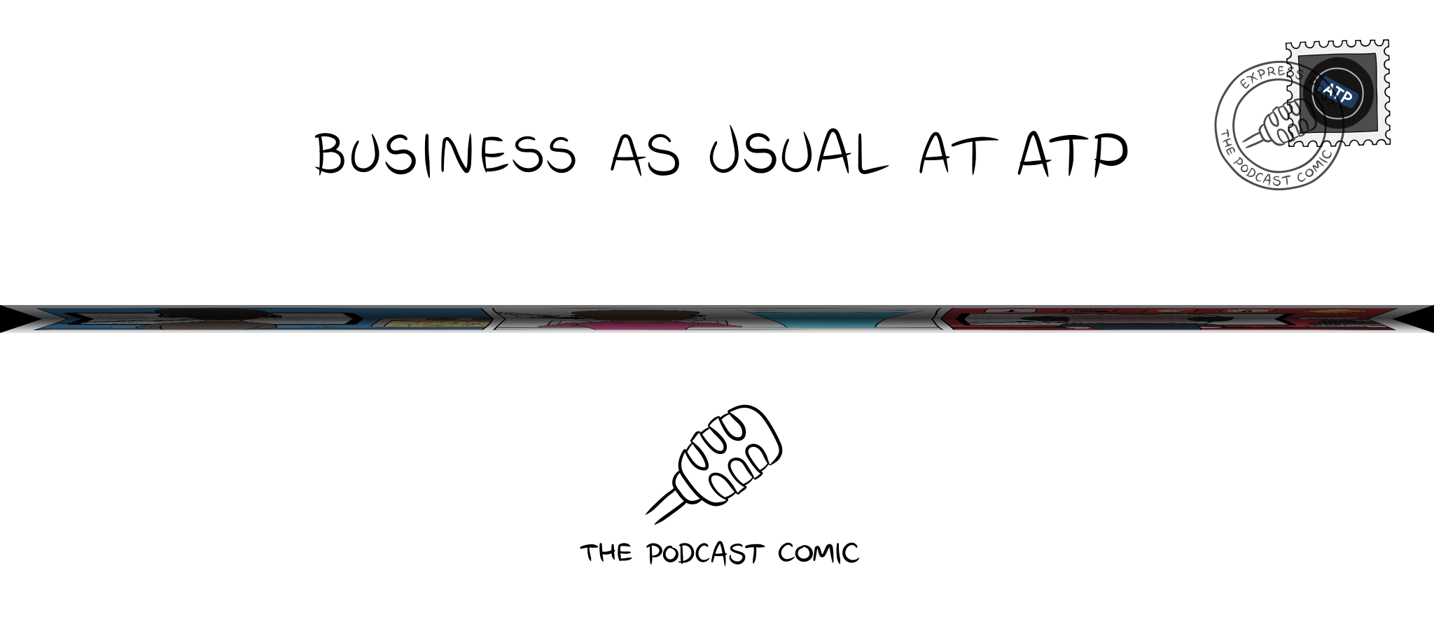 Folded comic 'Business as Usual at ATP'