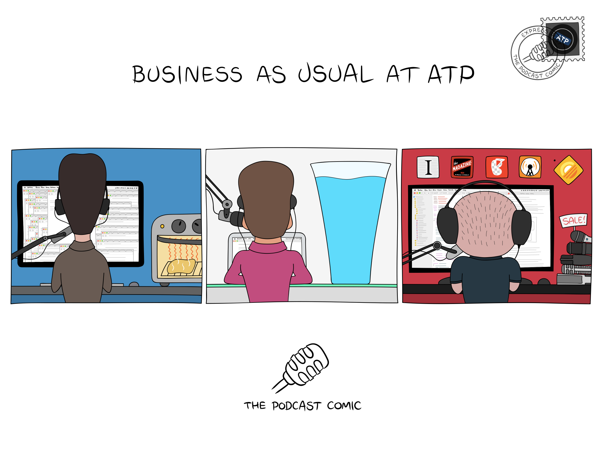 Comic 'Business as Usual at ATP'