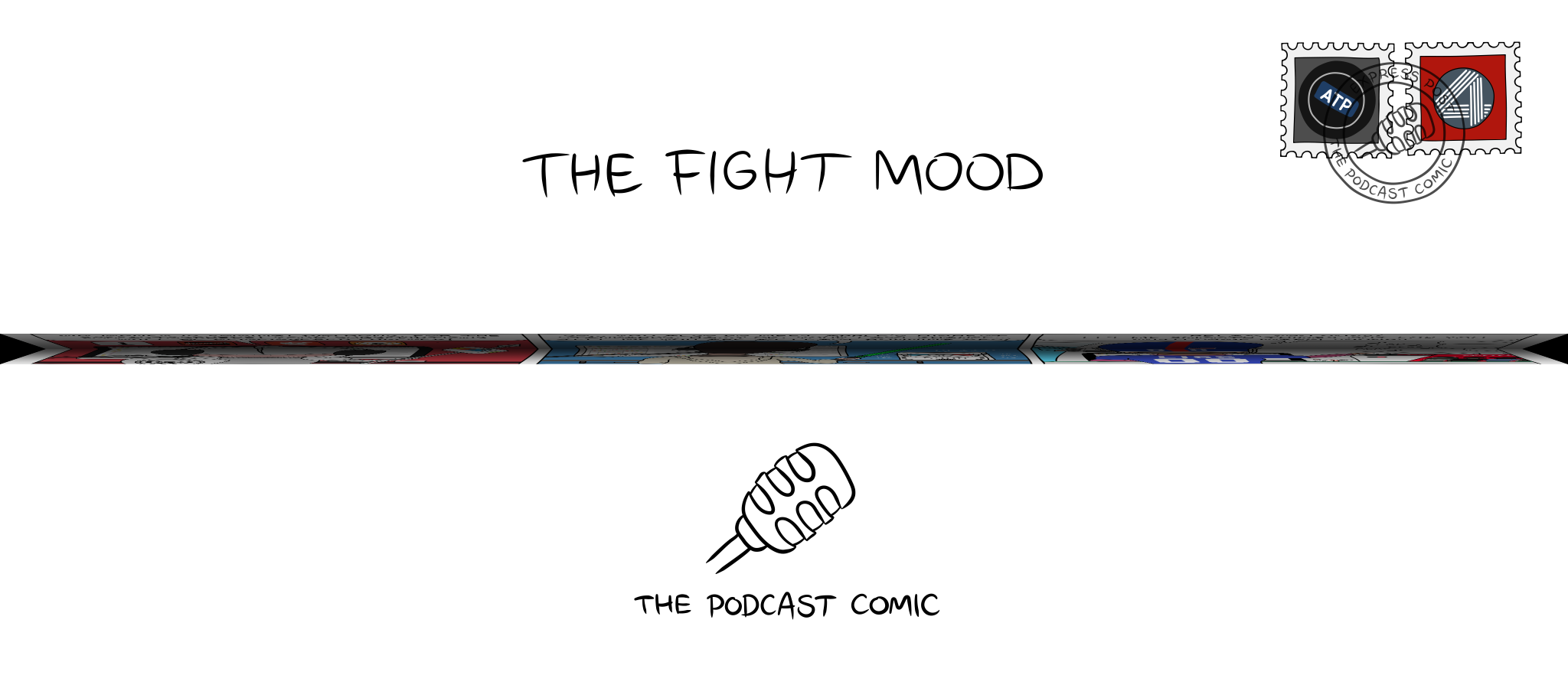 Folded comic 'The Fight Mood'