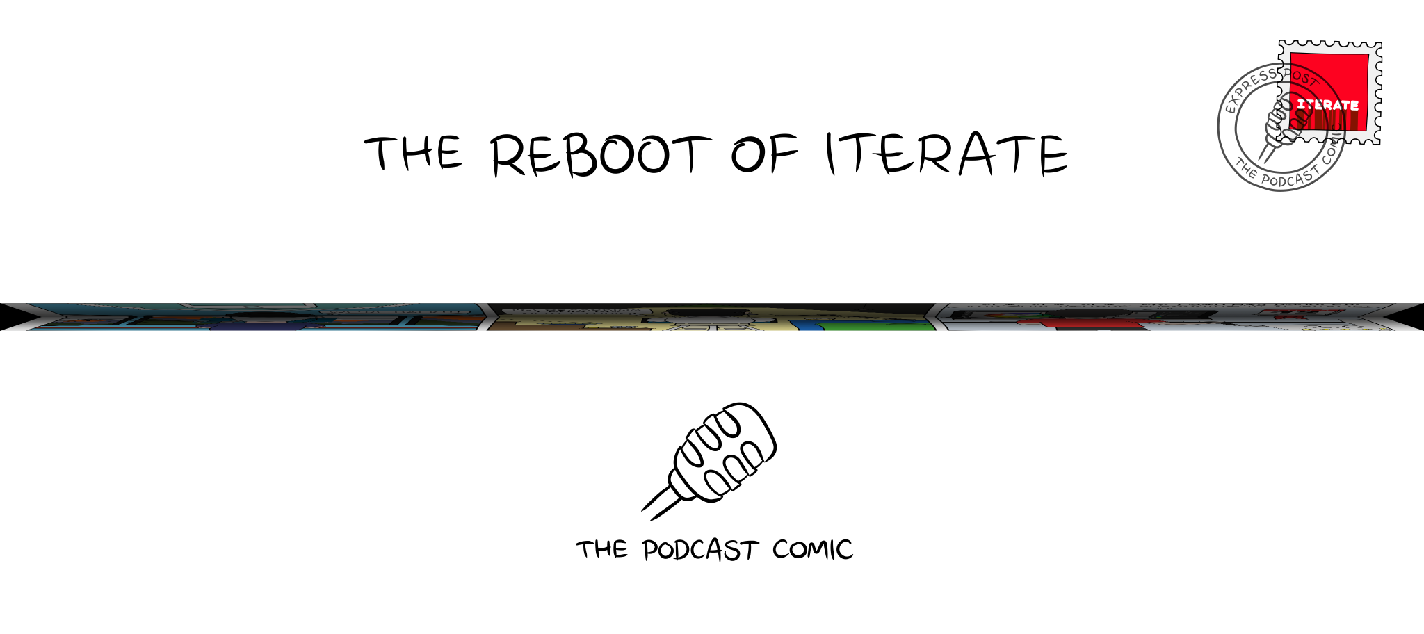 Folded comic 'The Reboot of Iterate'